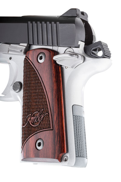 The Micro 9 doesn't feature a grip safety like most 1911s, but rather it has a checkered backstrap and beavertail that mates well to the hand.