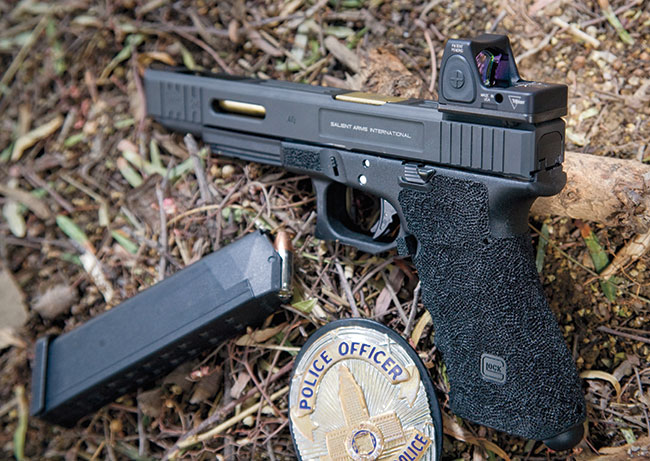 This RMR-equipped Glock was shot in the rain and in the dirt with no issues whatsoever.