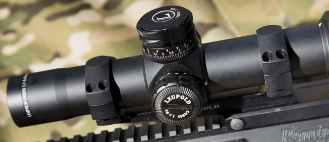 This 34mm maintube is secured at two points with a forward rake. This specialized mounting system is ideal for the unique eye relief that's prevalent when using scopes with AR rifle systems. Reversed, this ring/mount system is a better solution for mounting a scope over the bolt on the M14/M1A set in an EBR chassis system.