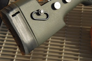 The flat toe of the Tac-338 rides a rear bag well and makes the rifle stable and easy to lie on comfortably. McMillan's attention to detail shows in how closely the inletting of the stock follows the contour of the barrel. The small, even gap between stock and barrel speaks to the craftsmanship required to assemble such a rifle.