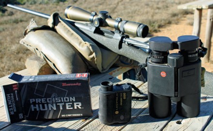 Two state-of-the-art rangefinders, Leupold's RX-1200i TBR ($500) and Leica's Geovid R 10x42 R rangefinder/binocular ($1,800). It's extremely handy to have a rangefinder and binocular in one tool, but there are tradeoffs we must accept.