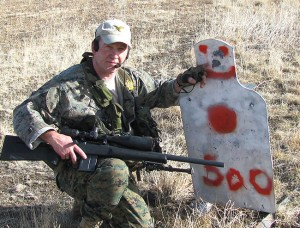 The author test fired the T/C Warlord prototype at 500 yards on a 100-degree day.