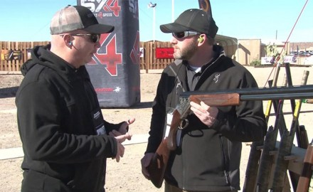 Rafe Nielson of Browning discusses the revamped Browning Citori White Lightning Over-and-Under shotgun at Industry Day at the Range.