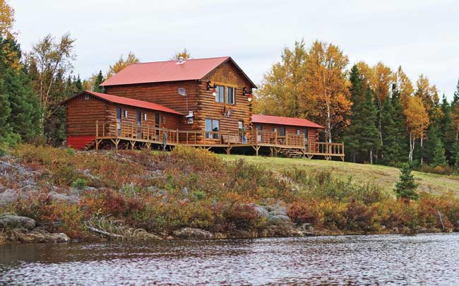 Above: Mt. Peyton's exquisite lodge is tucked into the heart of moose country.