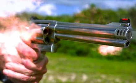 Patrick Sweeney and James Tarr slow things down a bit by using a high speed camera to show you what a .500 Smith & Wesson looks like when firing.