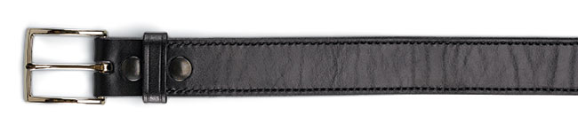 DeSantis' 1½-inch-wide belt is made from a single piece of saddle leather and is lined with suede. Black belts come with silver buckles, while tan belts ship with brass buckles. $73
