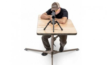 The DOA Shooting Bench I had for the hunt was made by Dixie Gun Worxs and it was much closer to the civilian version of portable than the military version.