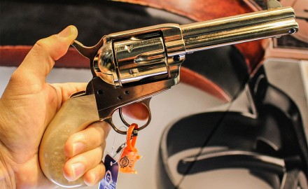 "This Uberti Model 1873 Outlaws and Lawmen ""Doc"" Pistol is one of many new historical replica firearms for 2018. (Philip Massaro photo)"