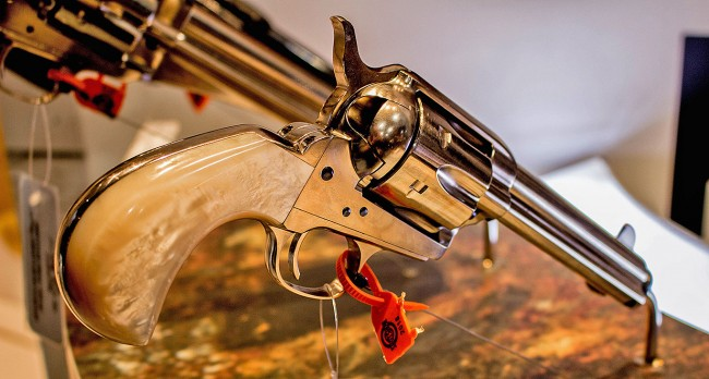 "Uberti Model 1873 Outlaws and Lawmen ""Doc"" Pistol (Philip Massaro photo)"