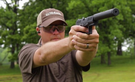 Eric Poole talks with Kevin Wilkerson of Walther about it's new Suppressor-Ready .22 pistol.