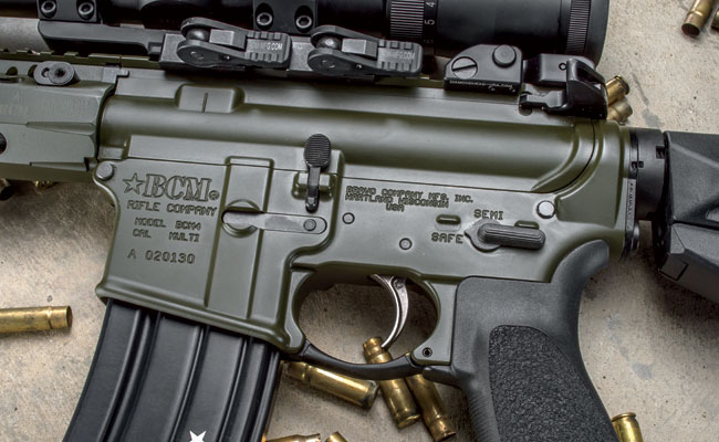 Inside the lower receiver is a low shelf that accepts the installation of an RDIAS (Registered Drop-In Auto Sear) for automatic rates of fire.