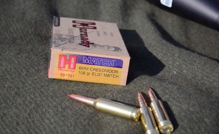 Tom Beckstrand and Neal Emery of Hornady highlight the 6MM Creedmoor ammo.