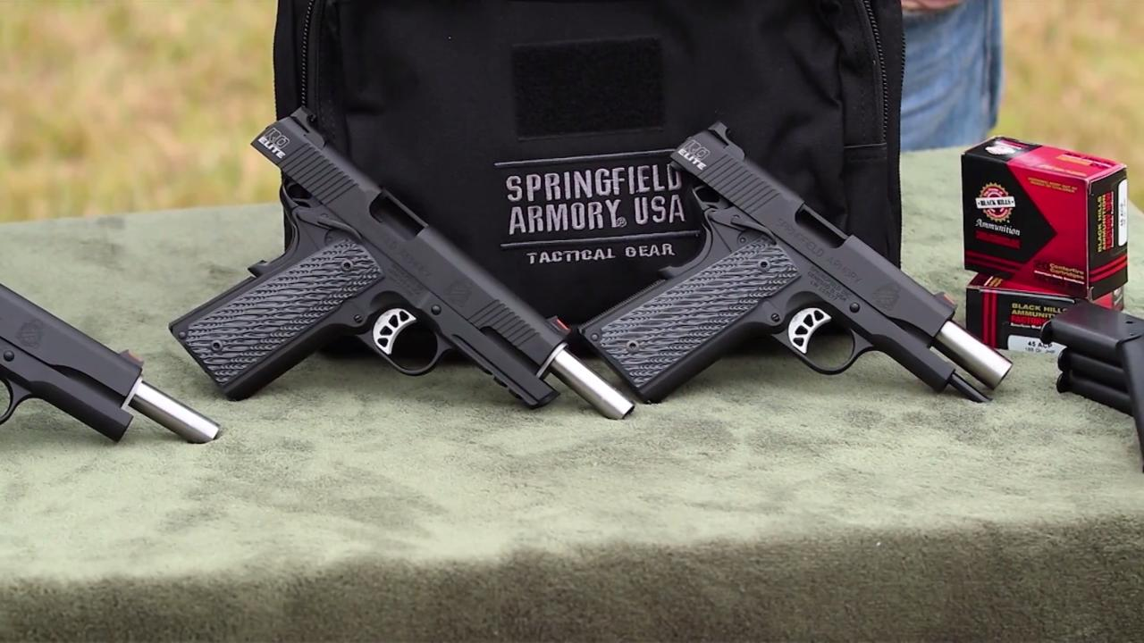 Springfield Armory 1911 Range Officer Elite Family