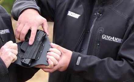 Craig Boddington and Eric Poole highlight features of the SuperTuck holster from Crossbreed.