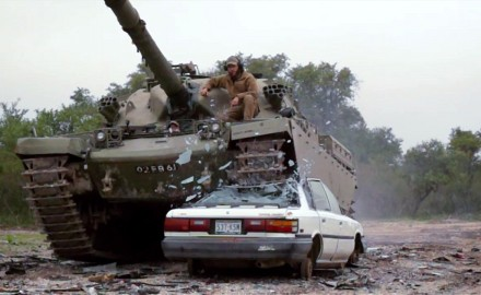 David Fortier drives one of the greatest battle tanks of all time, the Chieftain.