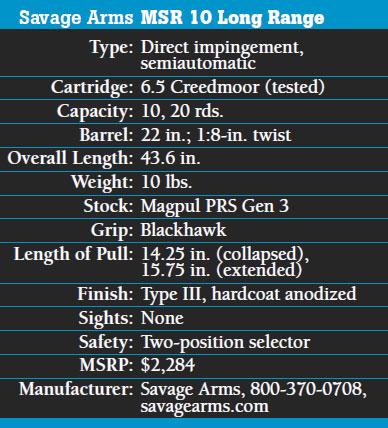 Savage-Arms-MSR10-LR-6.5-Creedmoor-Specs