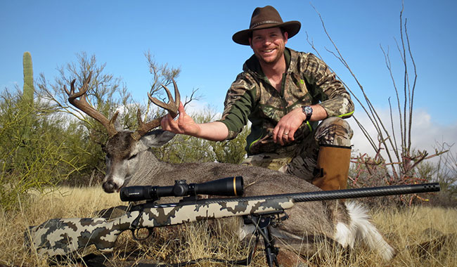 In old Mexico the author shot this massive coues buck from about 370 yards using a Barnes LRX bullet.