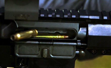 James Tarr and Patrick Sweeney use a high speed camera to look closely at how the bolt carrier