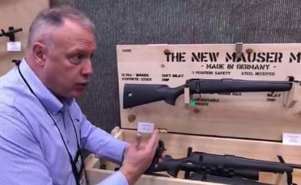 "OSG's Lynn Burkhead stopped by the Mauser booth at the 2018 NRA Annual Meeting to discuss their new rifle; the M18, also known as "" The People's Rifle""."