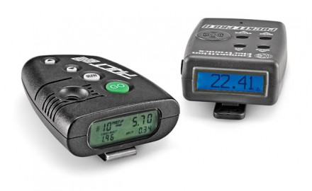 "(Left) PACT Club Timer III feels the best in our hands and presents a large, unmistakable ""GO"" button. You can set the timer for a countdown delay or instant go. Once a string is fired, reviewing the recorded times is quick and easy. $130 (Right) Competition Electronics Pocket Pro II has its start button on the side. The menu and navigation are comprehensive and this model offers the most features users can set/adjust. $130"