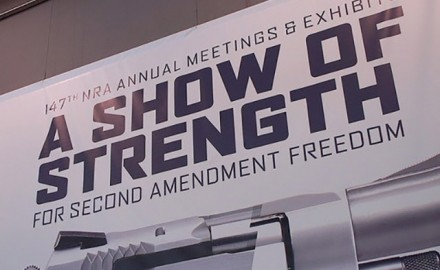 Michael Bane was hard at work last weekend, covering the 2018 NRA Annual Meetings. (Photo