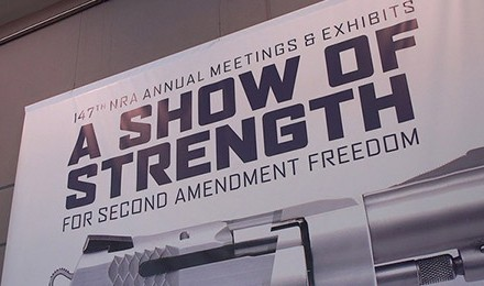 Michael Bane reports from the floor of the 2018 NRA show. (Photo courtesy of Down Range TV)