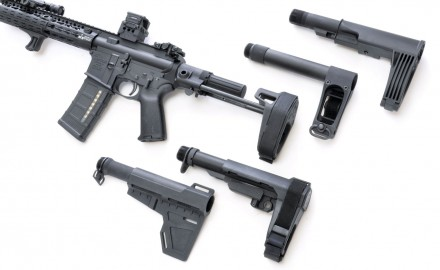 Five companies stabilizing the AR pistol.