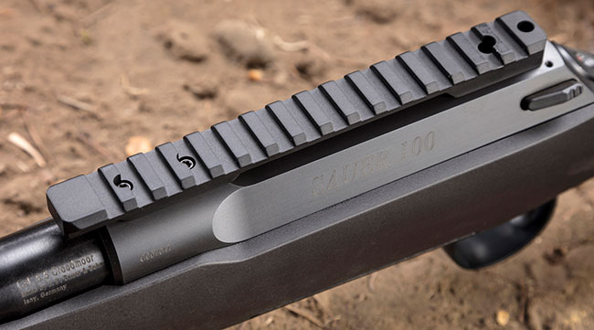 Given the popularity of the Remington Model 700, Sauer made sure its 100 would accept 700-style aftermarket scope bases.