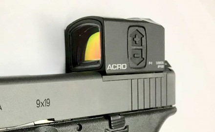 A new, closed-emitter mini red dot sight for pistols.