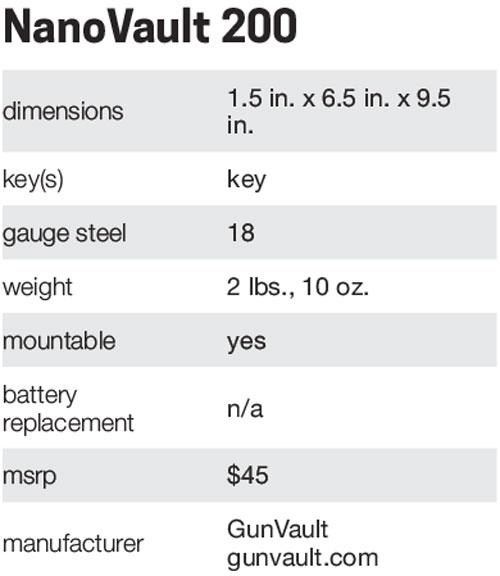 NanoVaultSpecs