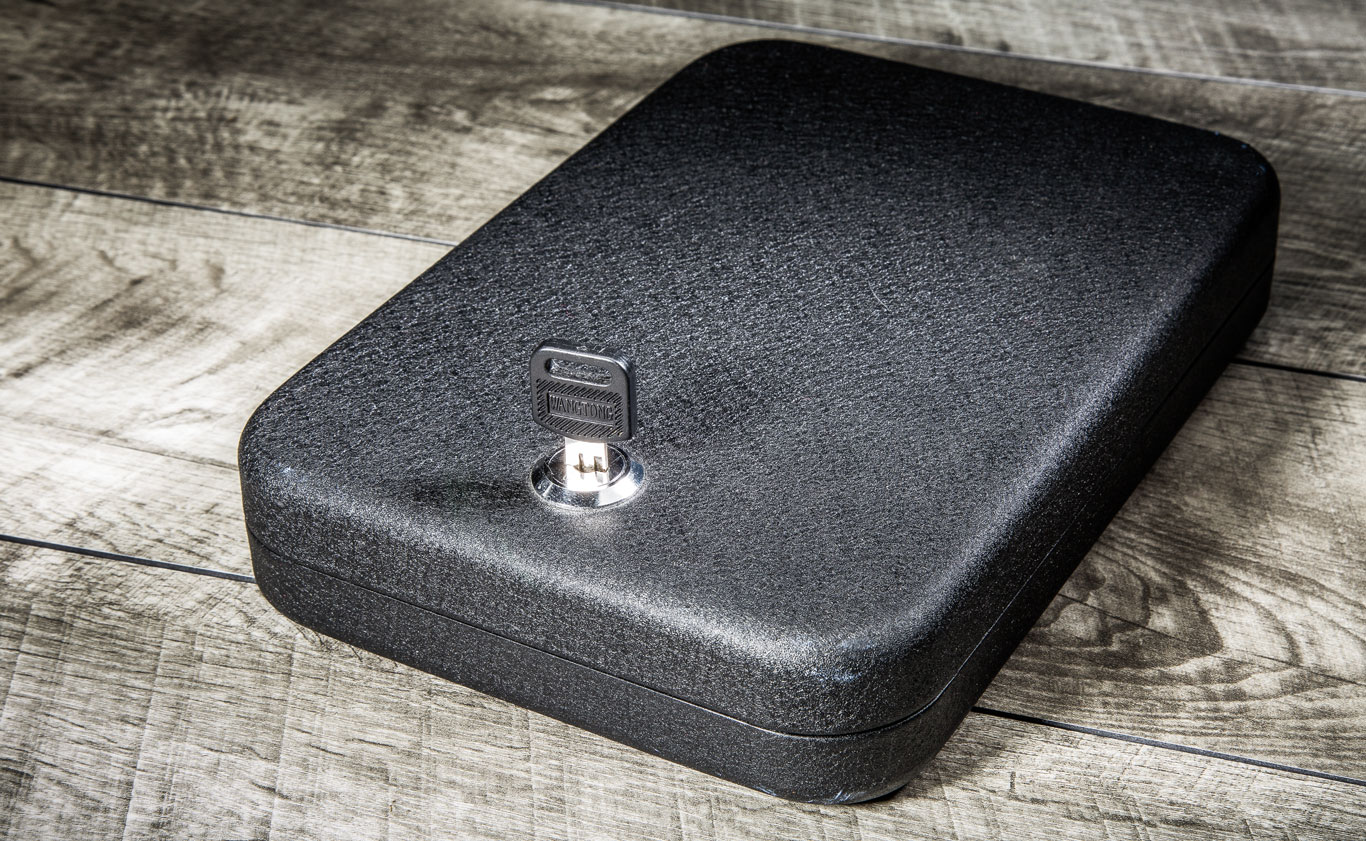 The NanoVault is the simplest, smallest and most versatile handgun safe of the group. It holds enough firepower at home or while traveling. The foam interior hasn't developed memory imprints and remains wholly intact.