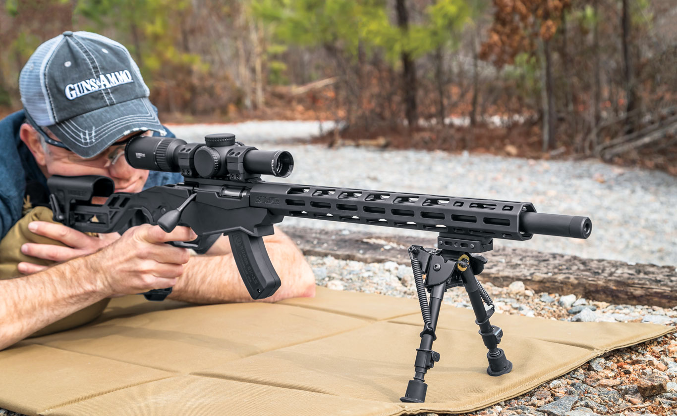The adjustable stock and long free-­float forend are key features on this trainer version of the RPR. A rifle has to fit correctly and allow for experimentation to facilitate the learning process.
