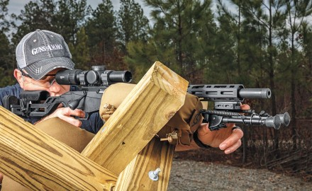 Learning to really shoot a rifle requires getting off your belly. The Precision Rimfire rifle makes that possible.