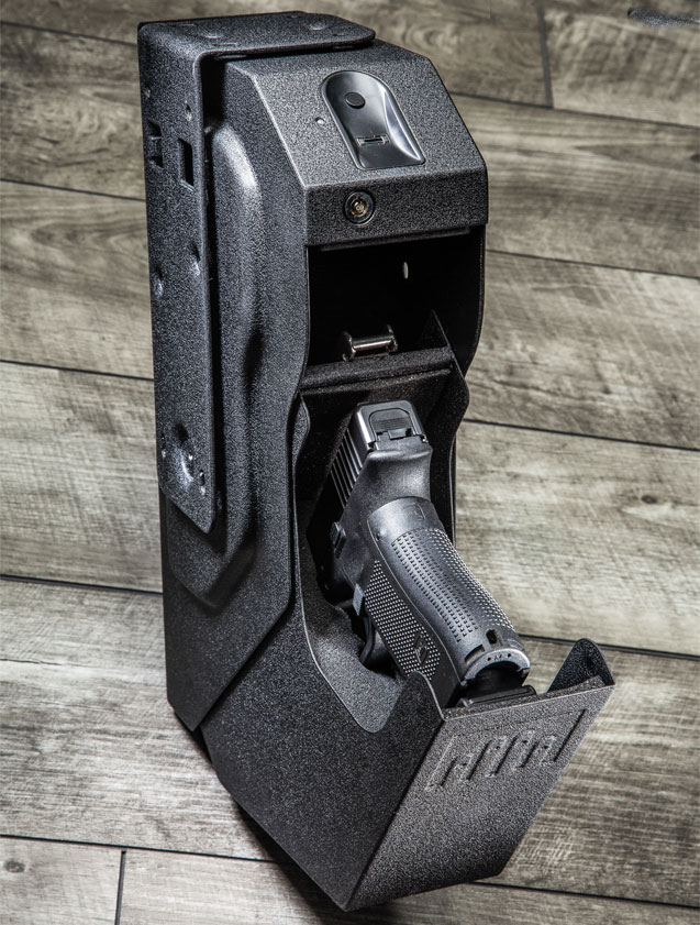 The SpeedVault is a great solution for those who spend a lot of time at a home office desk. It's easy to conceal a firearm safely and keep it within hand's reach.