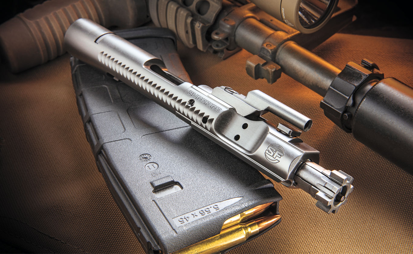 Surefire reached out to Jim Sullivan, designer of the AR-15 to help create the Surefire Optimized Bolt Carrier Assembly.