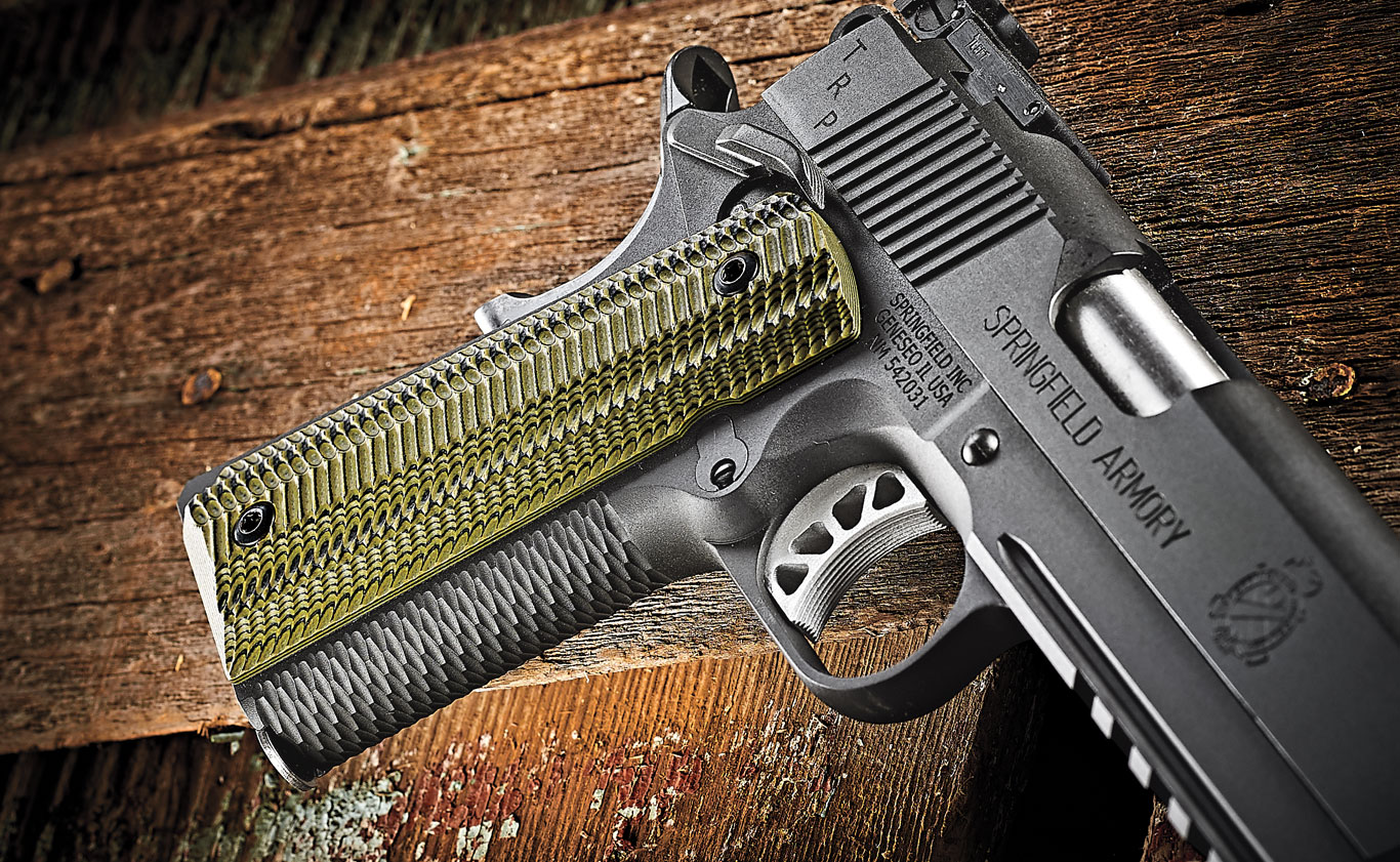 Springfield's Gen 2 Speed Trigger is skeletonized aluminum. Trigger pull measured 5 pounds, 7 ounces with a crisp break.
