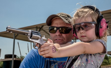 Ruger's single-action .22s are the best way to learn.