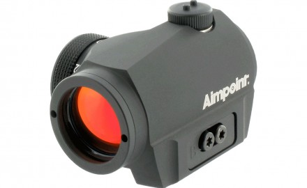 The Aimpoint Micro S-1 red dot sight.