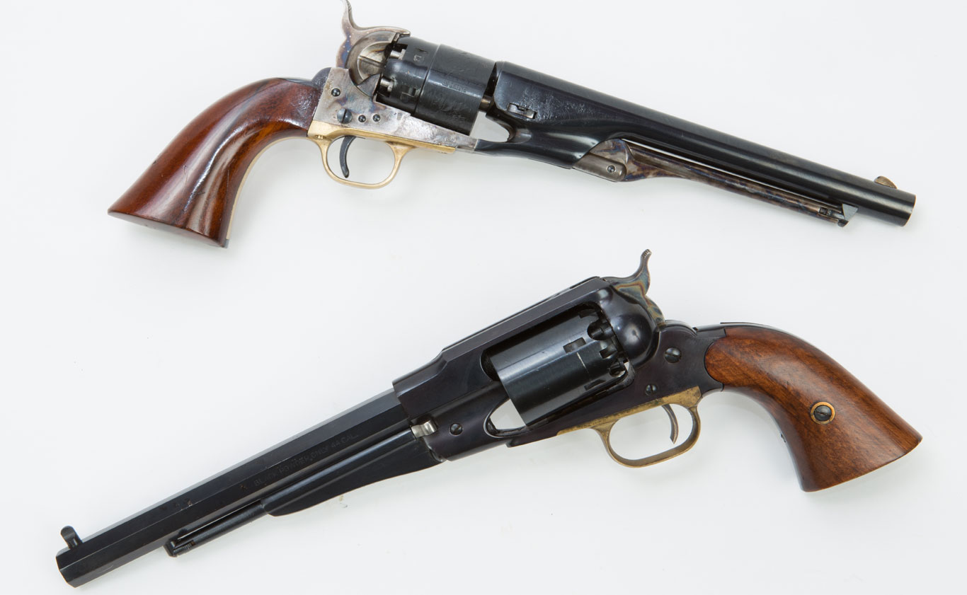 Full sized .44 caliber Army revolvers, whether the Colt or the Remington design are viable self-defense weapons.