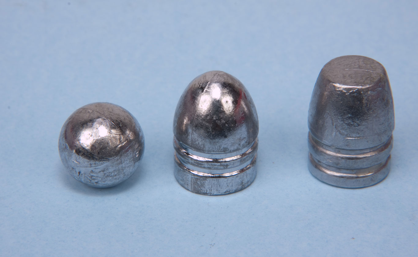 Round balls perform the best in self-defense situations because they transfer more of their energy to the wound. The heavier conical bullets tend to over penetrate.