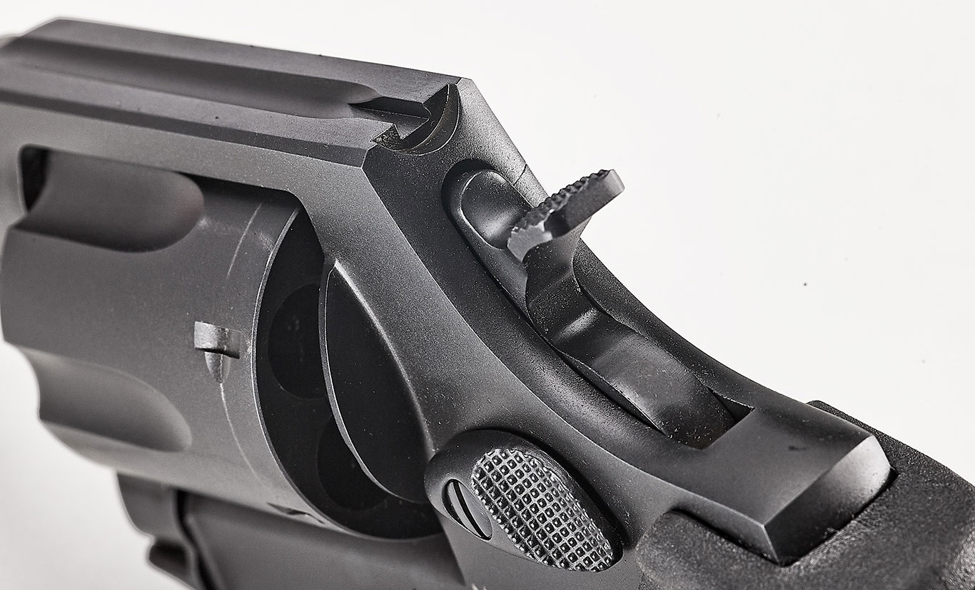 Engaging targets at that distance with the gun's long double-action (DA) pull proved a bit more challenging given the gun's serrated front sight and grooved top strap acting as the rear sight.