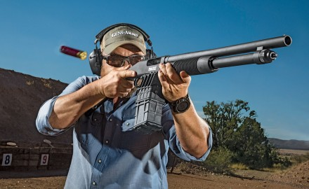 Mossberg's 590M takes magazine-­fed shotguns to a higher level.
