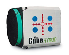 The design of American Whitetail's new CUBE Hybrid gives you the longevity and easy arrow removal of a bag target and the freestanding, multi-side (four in all) shooting attributes of a block-style target.