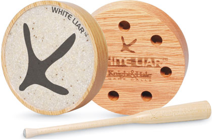 Knight & Hale's new White Liar wood pot friction call ($44.99) will change the way we hunt turkeys.