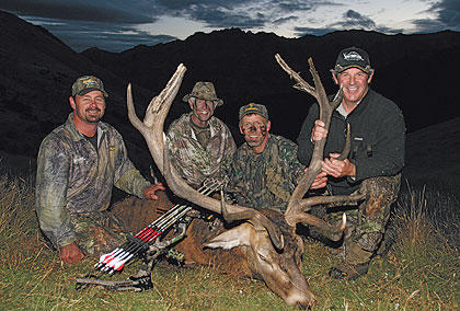 Bowhunters who travel to New Zealand in March are guaranteed a roaring good time.