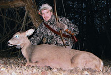 Hunting does will make you a better buck hunter.
