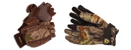 ScentBlocker Gloves Made For Bowhunters Wearing your release aid over a pair of