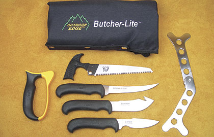 By Dwight Schuh    This practical set contains a 3-inch caping knife; 4.5-inch gut