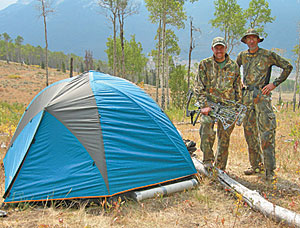 A dome tent like this will keep two or three elk hunters happy in the backcountry.