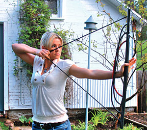 woman using bow trainer